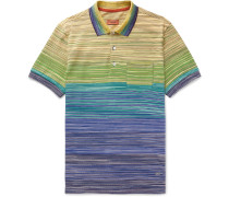 Space-dyed Cotton-jersey Polo Shirt
