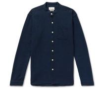 Grandad-Collar Cotton Shirt