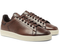 Burnished-leather Sneakers