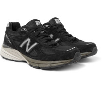 990v4 Suede And Mesh Sneakers