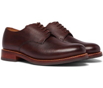 Curt Textured-leather Derby Shoes