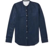 Grandad-Collar Lyocell Shirt
