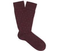Polka-Dot Pima Cotton-Blend Socks