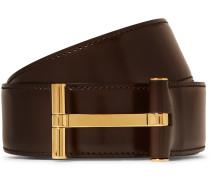 4cm Dark-Brown Leather Belt