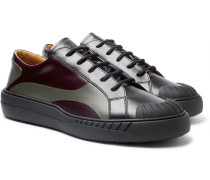 Valentino Garavani Helix Panelled Leather Sneakers