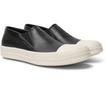 Boat Leather Slip-on Sneakers