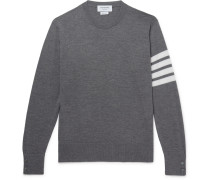 Striped Merino Wool Sweater - Gray