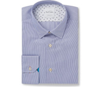Blue Soho Slim-fit Pinstriped End-on-end Cotton Shirt