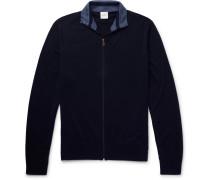 Slim-fit Merino Wool Zip-up Cardigan