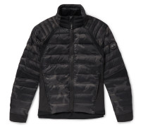 Hybridge Perren Camouflage-print Quilted Nylon Down Jacket - Black