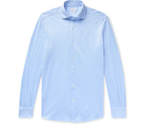 Slim-Fit Cotton-Piqué Shirt