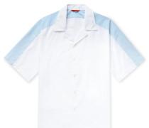 Colour-Block Camp-Collar Cotton Shirt