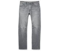 Dweller Slim-Fit Distressed Selvedge Denim Jeans