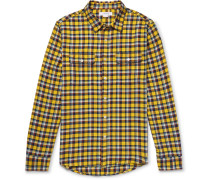 Wowona Checked Cotton-flannel Shirt - Yellow
