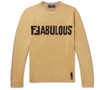 Logo-intarsia Virgin Wool Sweater - Yellow