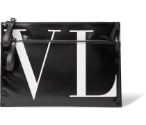 Valentino Garavani Logo-print Vinyl Pouch