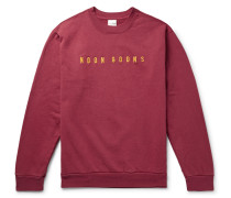 Logo-embroidered Fleece-back Cotton-jersey Sweatshirt