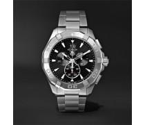 Aquaracer Chronograph Quartz 43mm Steel Watch - Black