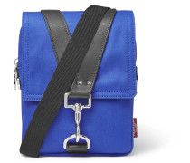 Valentino Garavani Leather-trimmed Canvas Messenger Bag