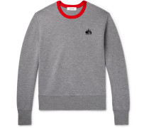 Contrast-tipped Merino Wool Sweatshirt - Gray