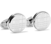 Checked Silver-tone Cufflinks - Silver