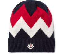 Tricot Intarsia Wool And Cashmere-blend Beanie