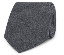 6.5cm Wool, Silk And Cashmere-blend Tie - Gray