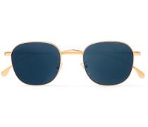 Round Gold-tone Sunglasses - Gold
