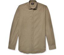 Jean Pierre Slim-fit Cotton-poplin Shirt