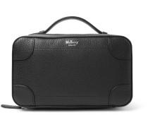 Belgrave Pebble-grain Leather Wash Bag - Black