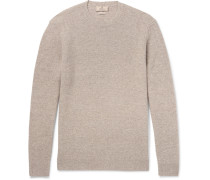 Elbow-patch Mélange Linen, Wool, Silk And Cashmere-blend Sweater
