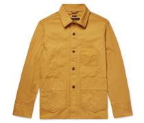 Washed Cotton-canvas Jacket - Mustard