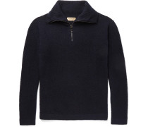 Cashmere-blend Half-zip Sweater