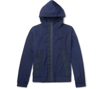 Webbing-Trimmed Shell Hooded Jacket