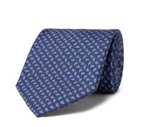 8cm Paisley-Print Silk-Twill Tie