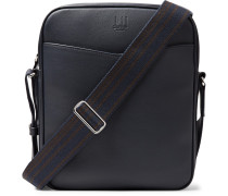 Hampstead Full-grain Leather Messenger Bag - Navy