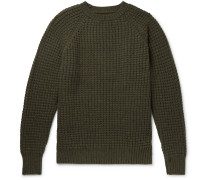 Waffle-Knit Wool and Cashmere-Blend Sweater