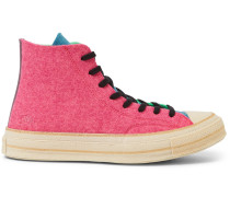 + Jw Anderson 1970s Chuck Taylor All Star Colour-block Felt High-top Sneakers - Multi