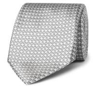 8cm Houndstooth Silk-jacquard Tie