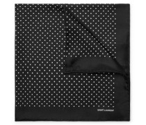 Polka-dot Silk Pocket Square - Black