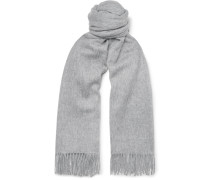Fringed Mélange Wool Scarf