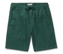 Cotton-Seersucker Drawstring Shorts