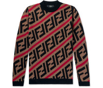Logo-jacquard Wool Sweater