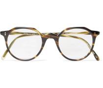 Op-l 30th Round-frame Tortoiseshell Acetate Optical Glasses - Tortoiseshell