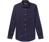 Cutaway-Collar Linen Shirt
