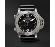 Luminor Submersible 1950 3 Days Chrono Flyback Automatic Titanio 47mm Titanium And Rubber Watch