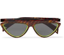 D-Frame Logo-Print Acetate Sunglasses