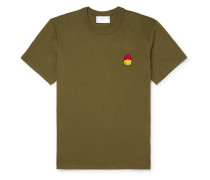 + The Smiley Company Logo-Appliquéd Cotton-Jersey T-Shirt