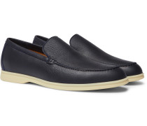 Summer Walk Full-grain Leather Loafers - Navy