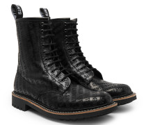 + Church's Logo-embossed Leather Boots